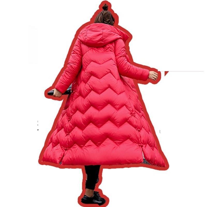 Bas rose Pour Parkas 2019 Hiver Épaississement Vers Veste Mince D'extérieur red Sur Black Chaud En Femmes Manteau Red Vêtements Étudiants Coton Genou Le Long cq1qX4rxwy