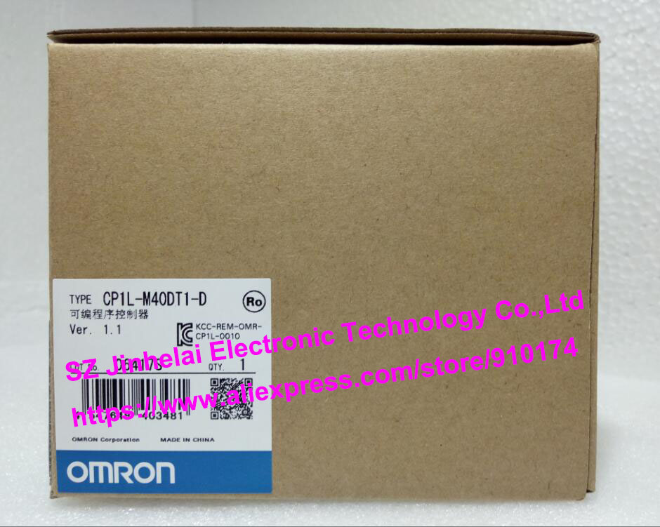 100% New and original  CP1L-M40DT1-D   OMRON PLC CONTROLLER [zob] 100% new original omron omron proximity switch e2e x10d1 n 2m