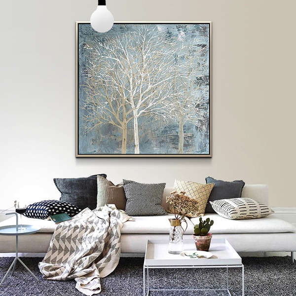 100% Hand Paitned Free Shipping trees Abstract Large size abstract Oil Canvas  1