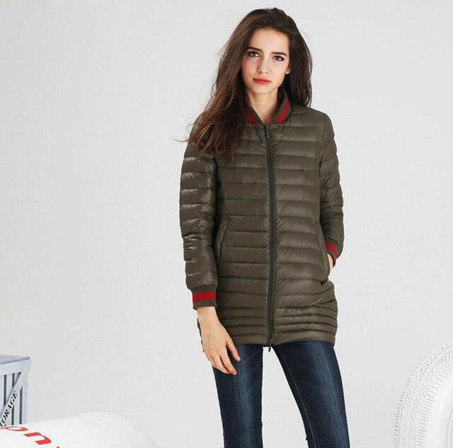 2017 Women 90% Duck Down Medium-long Jacket Ultra Light Plus Size Female Overcoat Good Quality Down Jackets Winter Coat Parkas