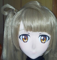(C2 027)New Adult Anime Kiger Cosplay Kigurumi Masks Fetish Mask with Wig Crossdresser in Party Anime Japan Cartoon Character
