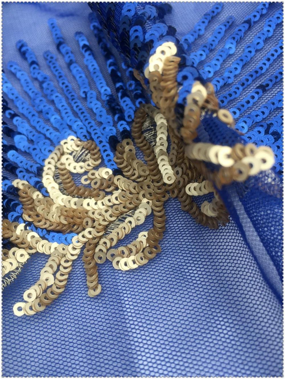 Ev ve Bahçe'ten Kumaş'de 2016 Afrika Dantel Kumaş Sequins Net Dantel Yüksek Kaliteli Afrika Payet Dantel Kumaş parti elbise için Pullu dikiş kumaşı'da  Grup 3