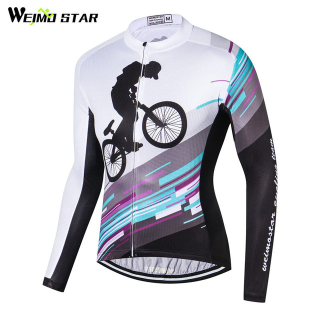01846cd02 Weimostar Racing Sport Mountian Bicycle Cycling Clothing Long Sleeve  Cycling Jersey Jacket Men Autumn Road mtb Bike Jersey Shirt