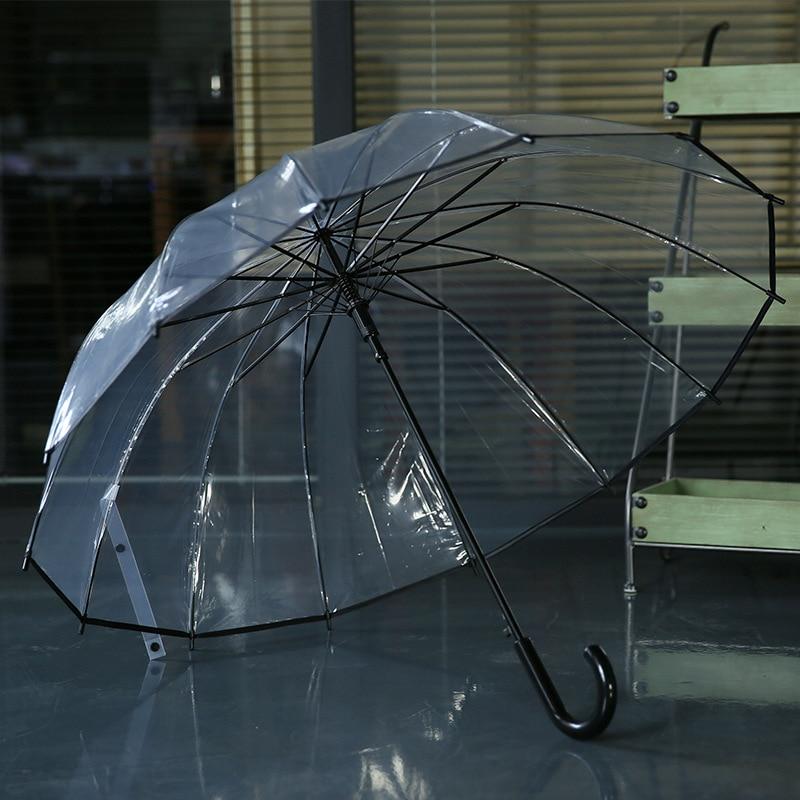 14 К-16 К хорошее качество автоматический прозрачный зонтик Для мужчин Для женщин детский зонтик