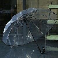 14k Good Quality POE Transparent Umbrella Rain Men Umbrella Parasol Kids Umbrella Rain Women Cute Clear