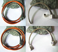 4 Sets Antique Silver Half Cuff Magnetic Clasp for 3mmRound Leather Bracelet Findings
