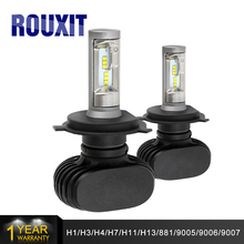 H4 H7 H8 H9 H11 9005/HB3 9006/HB4 LED Car Headlight Bulbs Hi-Lo Beam Conversion Kit 50W 8000lm CSP Chips 6500K Auto Headlamp цена и фото