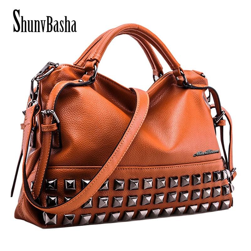 ShunvBasha PU Leather Bags Handbags Women Famous Brands Big Women ... 0a210b94a8746