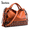 ShunvBasha PU Leather Bags Handbags Women Famous Brands Big Women Casual Bags Trunk Tote Brand Shoulder Bag Ladies large