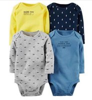 4pcs Lot Spring Autumn Long Sleeve 4piece Of Set Original Bebes Baby Boy Girl Clothes Set