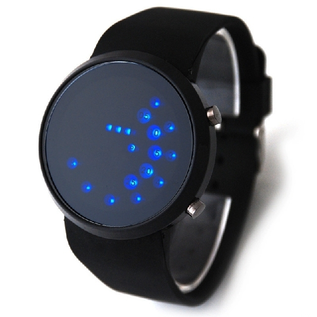 Brand New LED Digital Watch Silicone Band Bead Light Mirror Face Sport LED Wrist