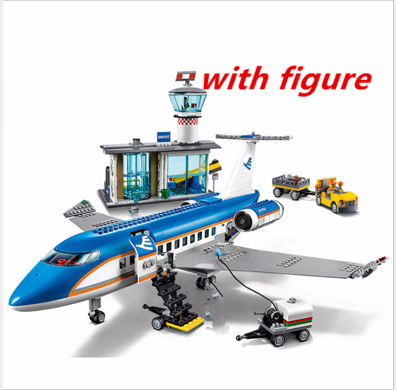 Compatible legoing 60104 LEPIN City Series 02043 City  Airport Terminal Assembly Building Blocks Bricks Toys  Brinquedos Bricks ynynoo lepin 02043 stucke city series airport terminal modell bausteine set ziegel spielzeug fur kinder geschenk junge spielzeug