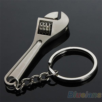 Creative Tool Wrench Spanner Key Chain Ring Keyring Metal Keychain Adjustable 7I7B