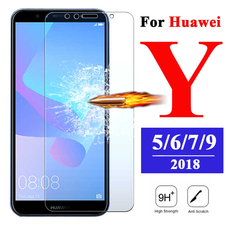 Vidrio Protector para Huawei Y5 Y6 Y7 Y9 Prime Y 5 6 7 9 vidrio y3 Protector de pantalla cámara Huawey armadura película 6y y6 pro