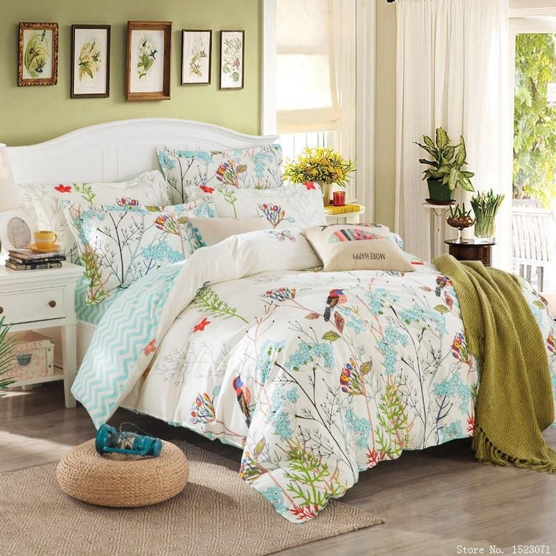 TUTUBIRD girls bedding collections bird flower cartoon grid bed ...