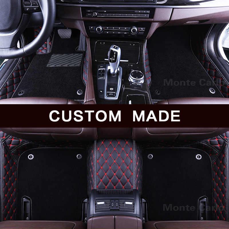 Alfombrillas de coche personalizadas para Smart Fortwo W451 C453 A453 para cuatro W453 3D estilo de coche alfombra de alta calidad para todo el tiempo alfombra del trazador de líneas