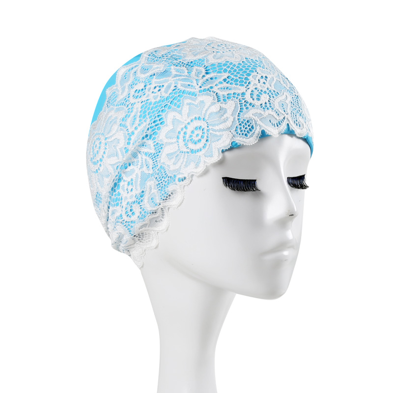 Beautiful Lace Beach Quick Dry Swimming Cap For Women Girls Flower Elastic Hollow Out Bathing Hat Swimming Pool New Style