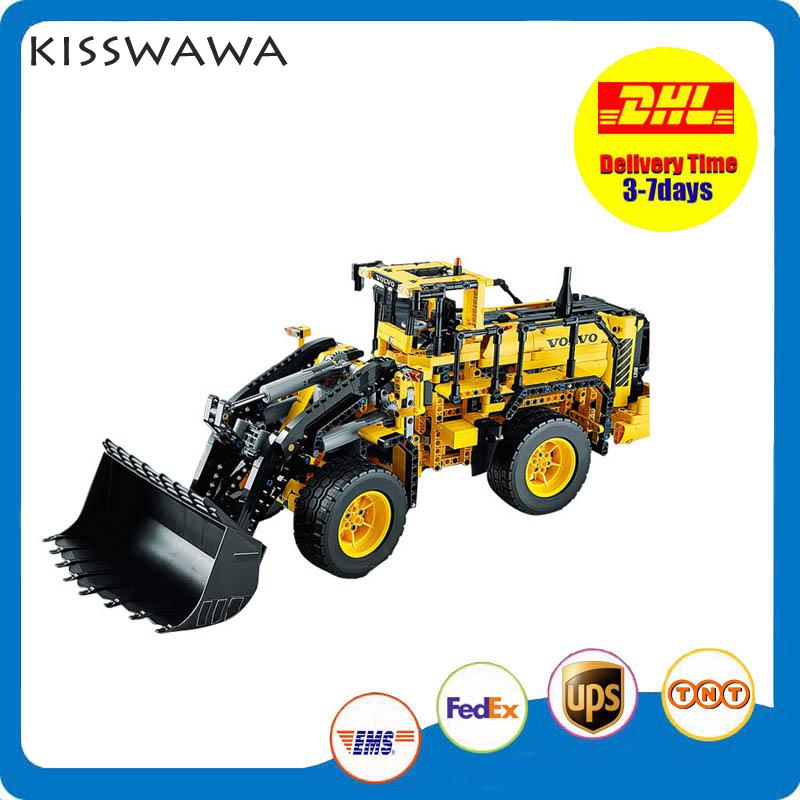 KISSWAWA Lepin 20006 1636pcs Technic Series Volvo L350f Wheel Loader Model Building Blocks Bricks Toys For Children