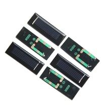 BUHESHUI 0.5V 250MA Mini Solar Panel Epoxy Solar Cell DIY Solar Battery Toy Panel Education 53*18*2MM Epoxy Wholesale 100pcs