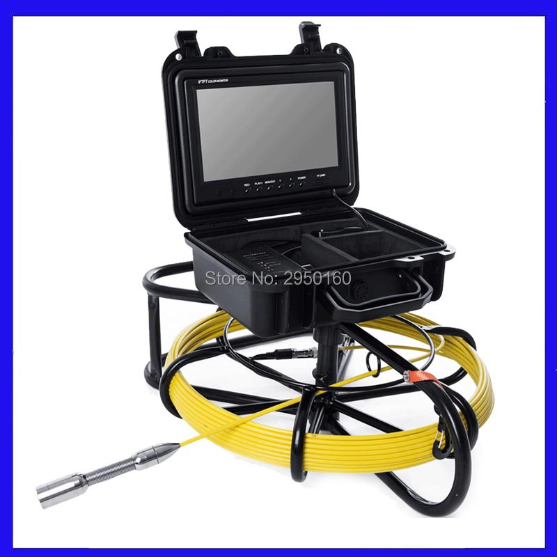 HTB1YAWoXInrK1RjSspkq6yuvXXat - Pipe Sewer drain air duct underwater underground plumbing Inspection Camera 9inch LCD monitor 23mm camera head 12pcs LED lights