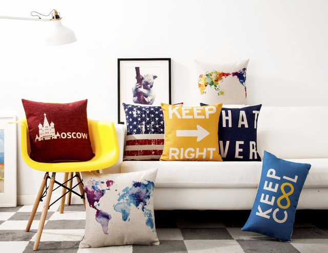 Free shipping watercolor world map london paris amsterdam moscow free shipping watercolor world map london paris amsterdam moscow keep right whatever pattern cushion cover throw publicscrutiny Image collections