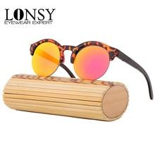 Metade de Quadro Óculos De Sol De Madeira de bambu Óculos De Sol Femininos 2016 Do Vintage Mulheres Handmade Esporte Óculos oculos de sol masculino Com Caso(China (Mainland))