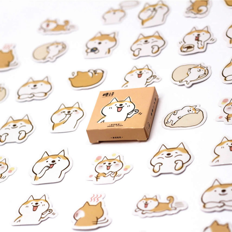 Lolede New 45pcs/set Corgis Notebook Diary Drawing Painting Graffiti Soft Cover Paper Memo Pad Office School Supplies Gift Notebooks