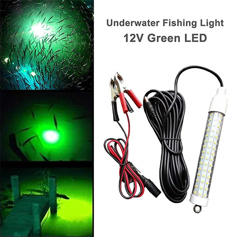 12V 120LED 1000Lumens Lure Bait 10W Night Fishing Finder Lamp Light shads fishing LED boat fishing Deep Drop Underwater Light eyoyo 104 led 2200lm green underwater night fishing light lamp fishing lure lights