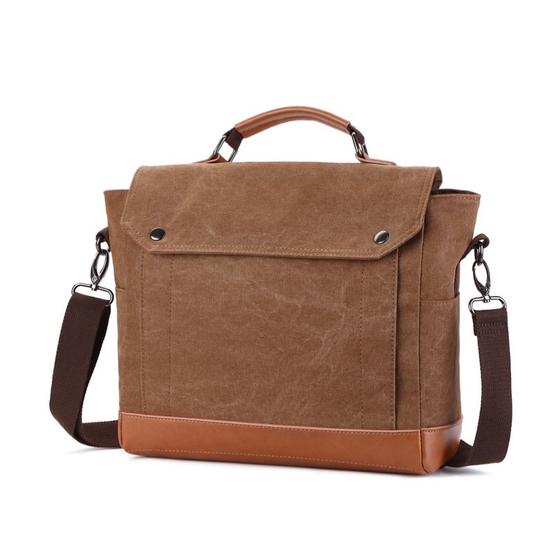 New Canvas Bags Business Travel Casual Handbags Computer Bags Men Single Shoulder Bag osoce men bag sling shoulder bag business casual canvas korean brief bags street office bag green blue gray s1 s2