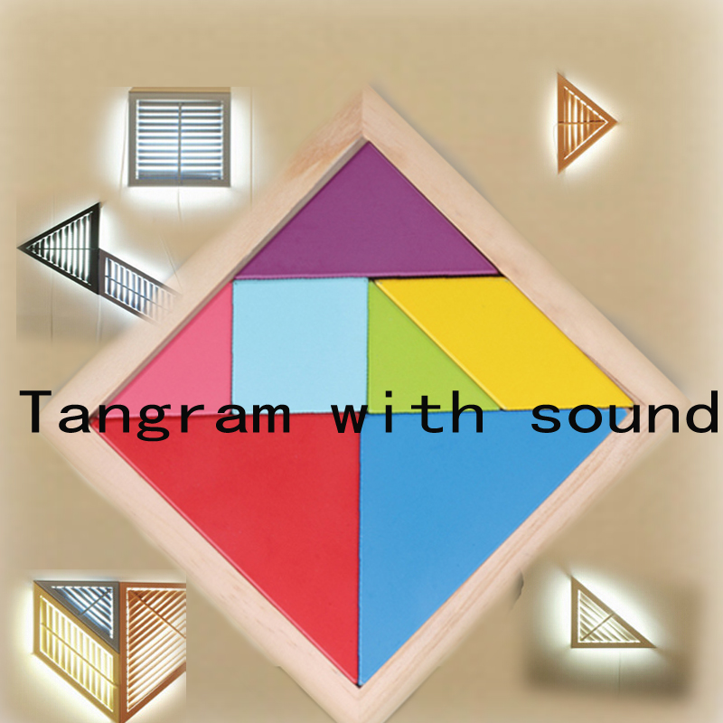 Game props Tools Tangram unlocked and with sound Reality Room Escape props puzzle Trigger unlock tool