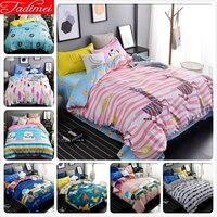 Pink Blue Zebra Stripe Pattern 3/4pcs Bedding Set Adult Kids Child Bed Linen Single Full Queen King Size Quilt Comforter 150x200