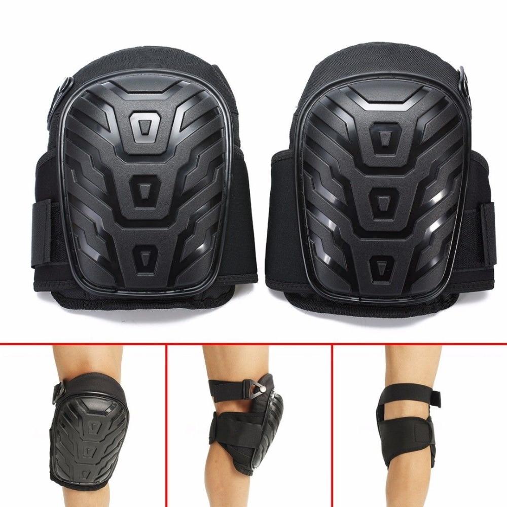 Наколенники для ног мотоцикла с регулируемыми ремнями безопасная Гелевая подушка EVA ПВХ оболочка для защиты колена наколенники для работы ...