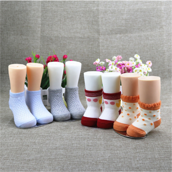 Free Shipping!! New Style Hot Sale Plastic Child Mannequin Foot Model For Sock Display