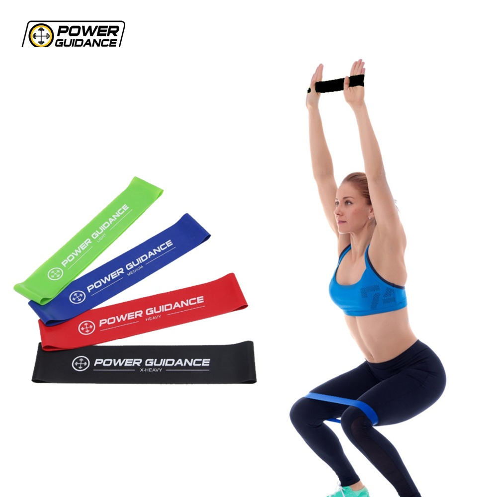 POWER GUIDANCE Latex Resistance Loop Bands Fitness Bands Set - Yoga Exercise Sport Band For Legs And Arms - Carry Bag booty bands set resistance bands for a bikini butt glutes muscle waist belt adjustable workout with carry bag and a full guide