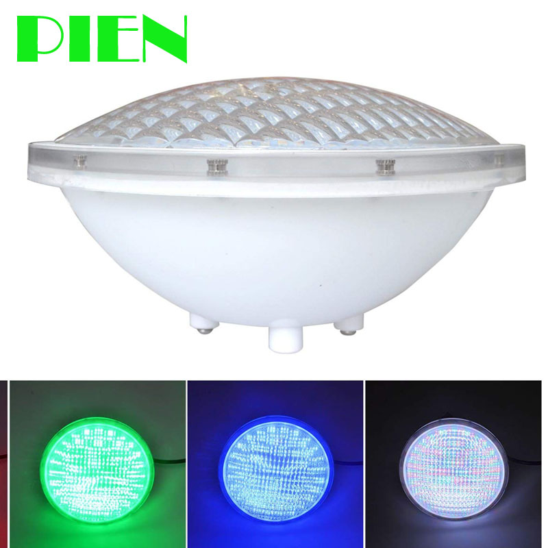 PIEN Underwater lights IP68 LED Swimming pool light Par56 18W Pond Fountain RGB White Blue color Free ship