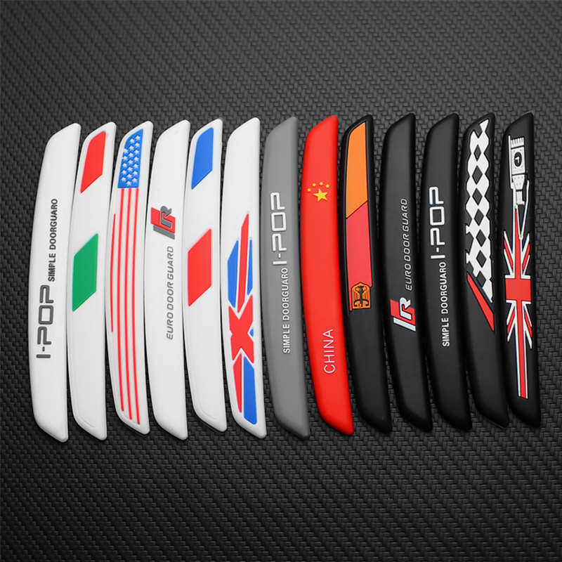 6pcs Auto Car Door Guard Edge Corner Protector Guards Buffer Trim Molding Protection Strip Scratch Protector Car Door Crash Bar