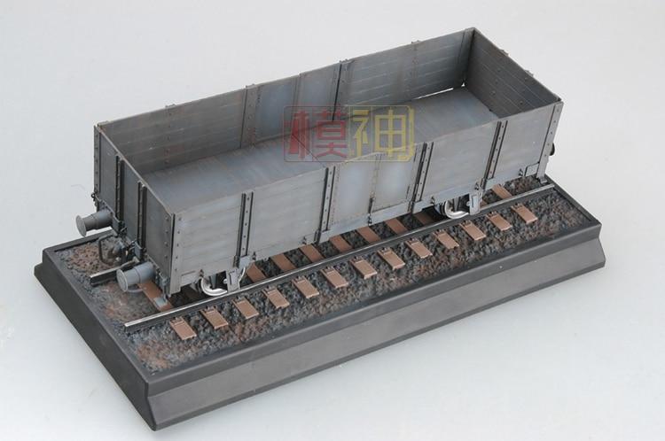 Model Assembled Locomotives, 1:35 World War II, Germany, High, Van, Trailer, Car 01517