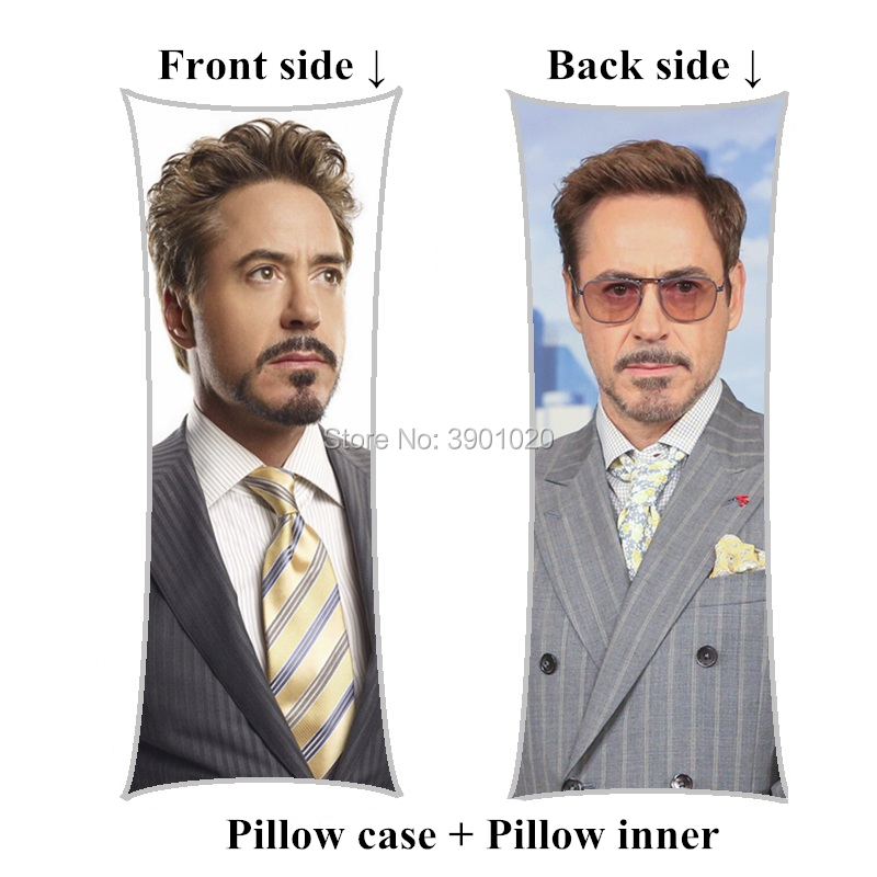New Arrival Robert Downey Jr Body Pillow including inner home long pillows customize birthday Gift-in Decorative Pillows from Home & Garden    1