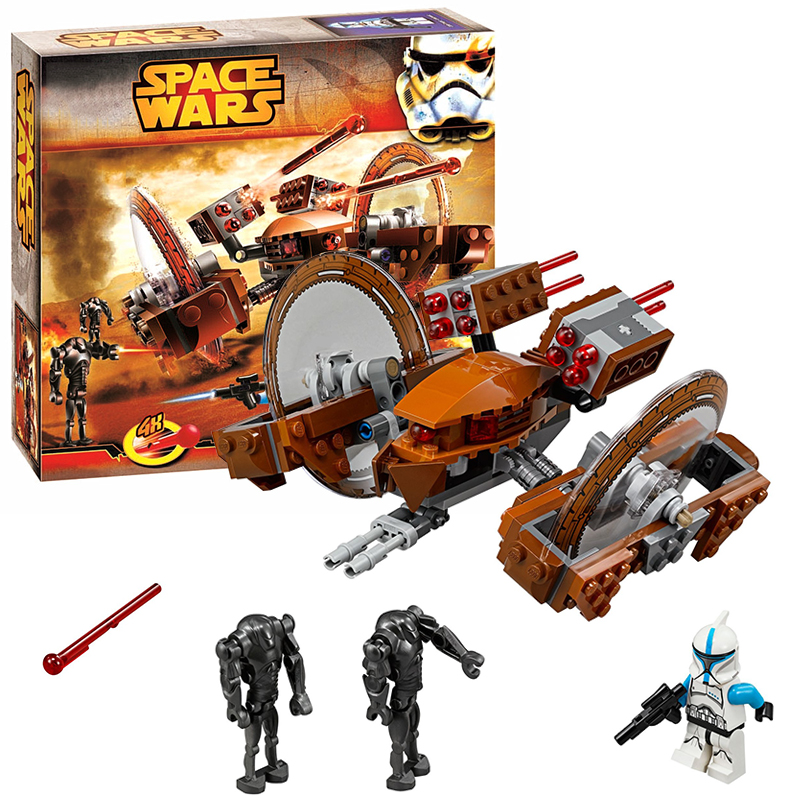Bela 10370 Hailfire Droid building bricks blocks Toys for children Game Plane Weapon Compatible with Decool Lepin 75085 lepin 22001 imperial flagship building bricks blocks toys for children boys game model car gift compatible with bela decool10210