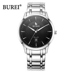 Роскошные Брендовые Часы BUREI для мужчин и женщин, водонепроницаемые часы для влюбленных, повседневные кварцевые наручные часы, Relogio Masculino ...