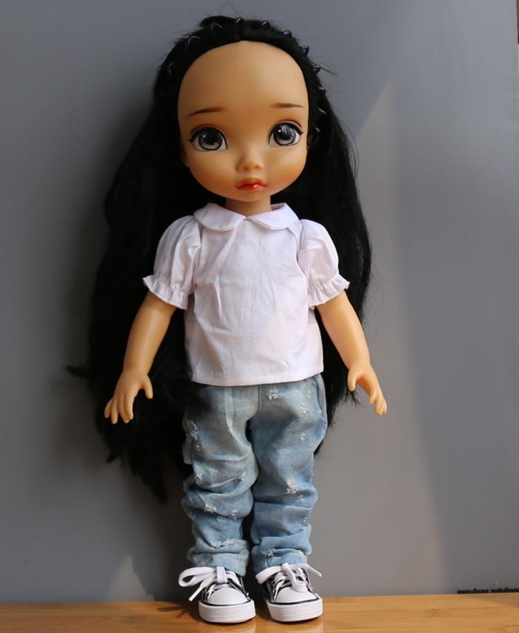 Clothes for dolls White shirt  jeans fits 40cm ofia  princess Anna Elsa Accessories for dolls жилет river island river island ri004ewgxz15