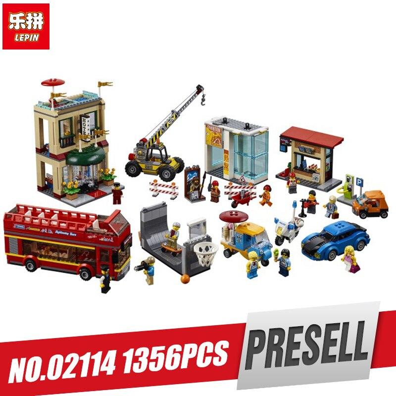 Lepin 02114 Kids Car Toys City Series The Legoingly 60200 Capital City Set Building Blocks Bricks Car Model Set Kids Toys Gifts