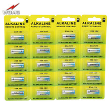 20pcs/4pack Wama Alkaline 12V 55mAh 23A Primary Dry Batteries 21/23 23GA A23 A-23 GP23A RV08 Alarm Car Remote Battery Free Ship