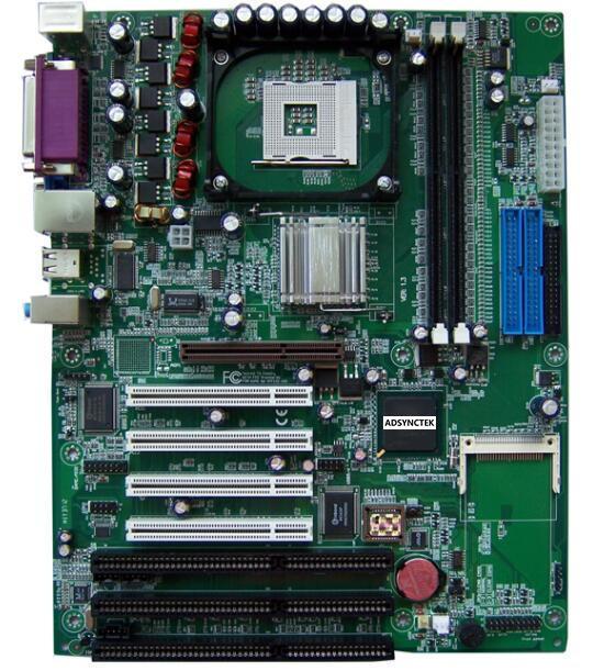 New Original 845 845GV 845GL ISA Mainboard 478P ISA Motherboard 4 PCI 3 ISA Slot milling