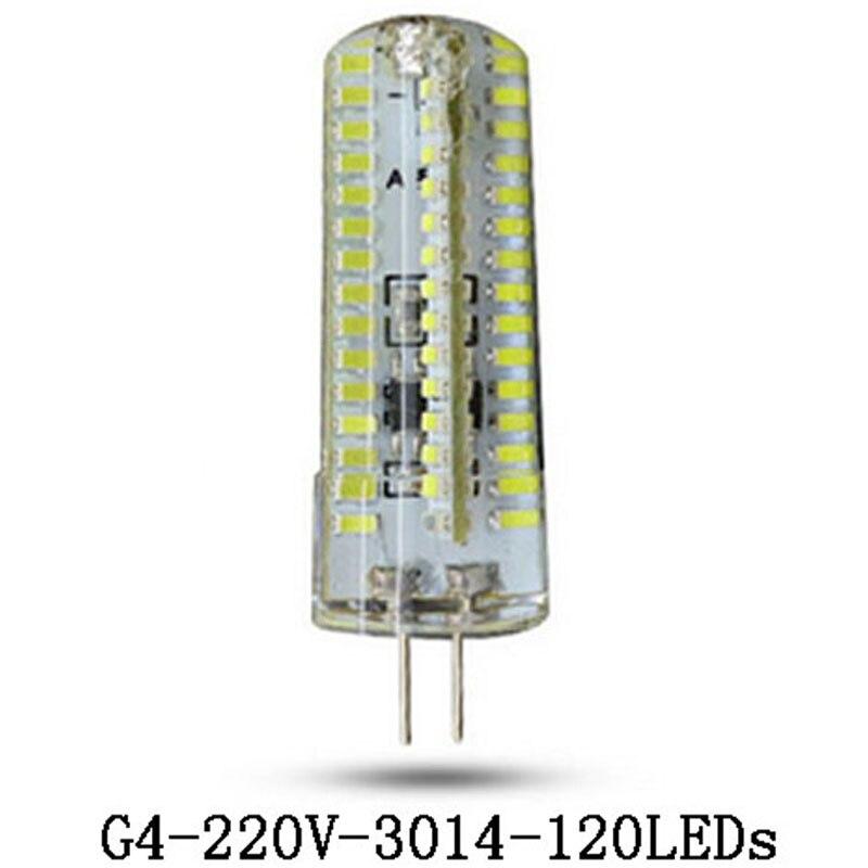 G4 Led Light SMD 3014 Silicone Led Lamp G4 24 led 72Led 120Led 220V 240V 360 Beam Angle LED Bulb Crystal Home Lighting
