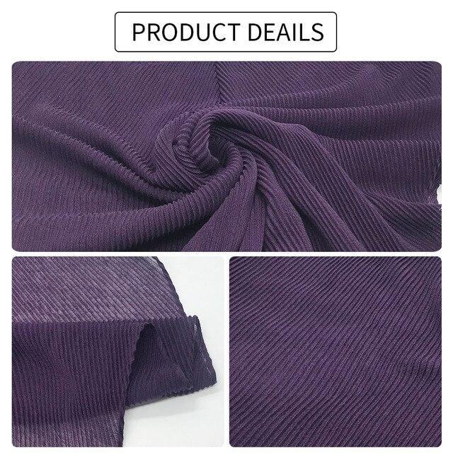 Модные плиссированные хиджабы элегантная длинная шаль накидка