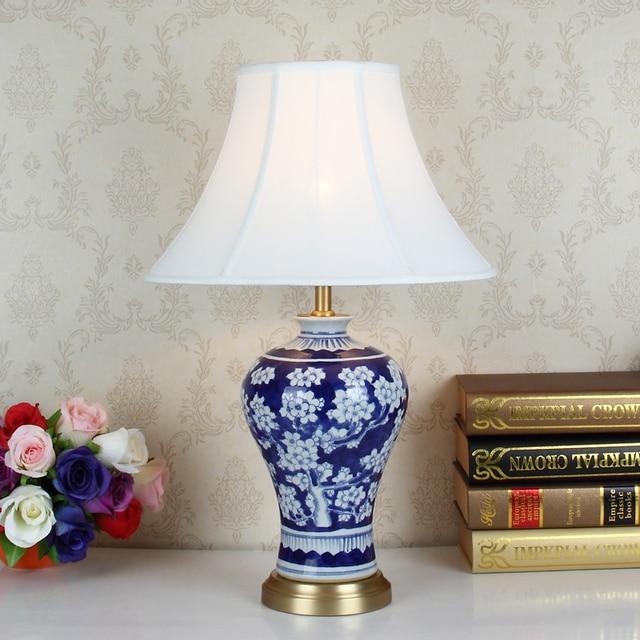 Elegant Kunst Chinesische Porzellan Keramik Tischlampe Schlafzimmer Wohnzimmer  Hochzeit Tischlampe Jingdezhen Lampe Für Tisch Wohnzimmer