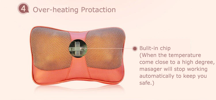 Cervical Massage Pillow And Neck Shoulder Electric  Shiatsu Massager Car Seat Cushion With Heat 5