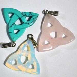Image 3 - Nieuwe 2018 hot! hoge Kwaliteit Mengen mode Natuursteen Hollow driehoek hangers voor sieraden maken 10 stks/partij gratis verzending