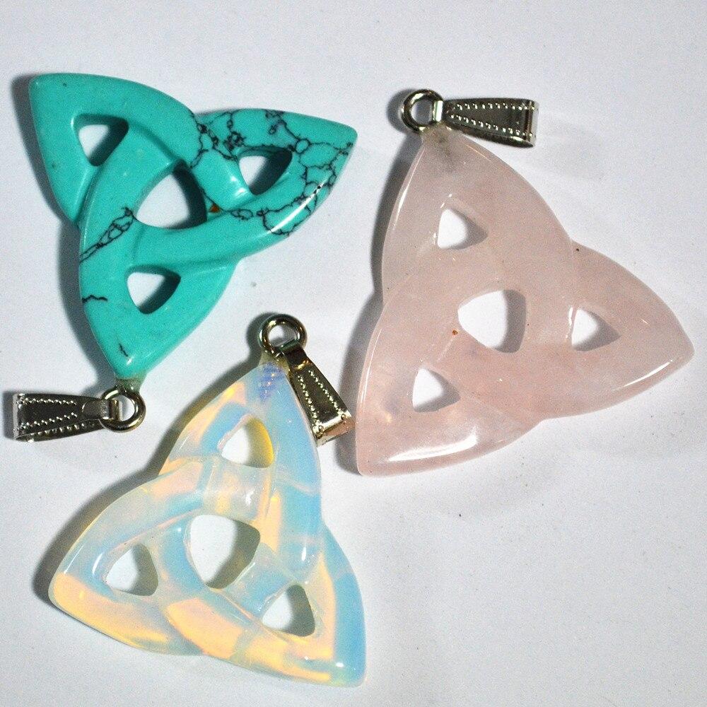 Image 3 - Novo 2018 quente! Alta qualidade mistura de moda natural pedra  oco triângulo pingentes para fazer jóias 10 pçs/lote frete  grátispendant for jewelrypendants for jewelry makingf pendant -